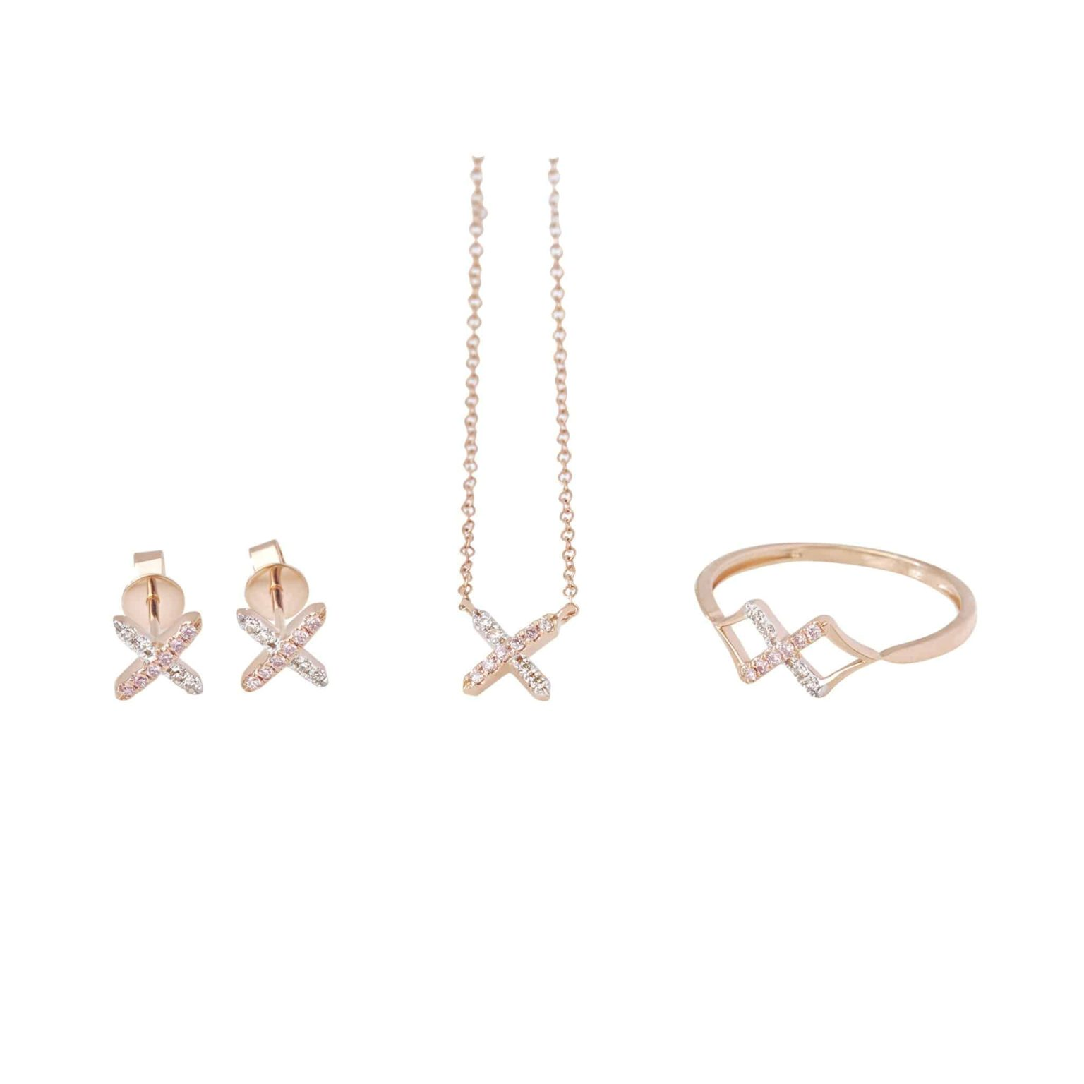 Eminence Pinks Diamond Cross Earrings p6
