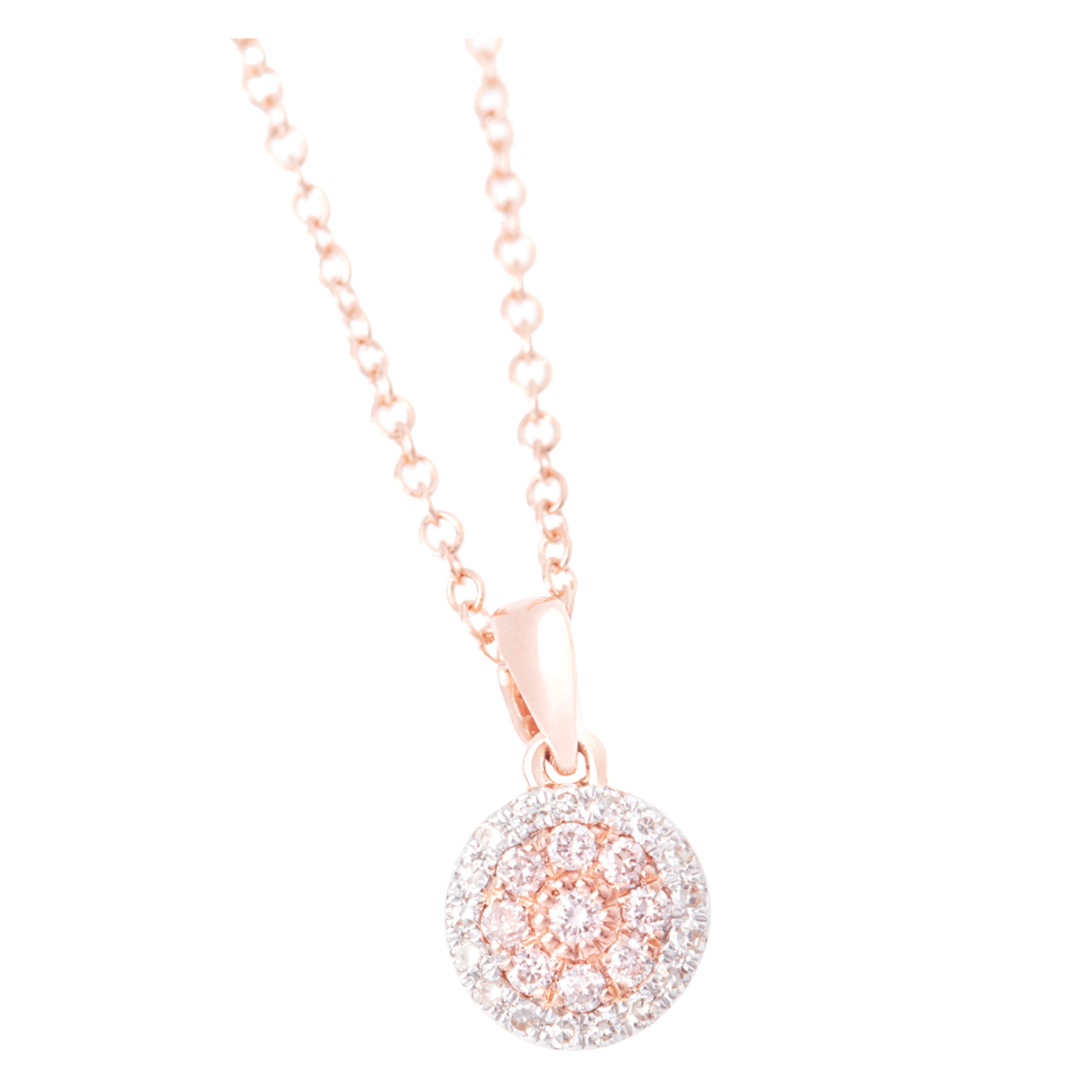 Eminence Pinks Diamond Disc Pendant p4