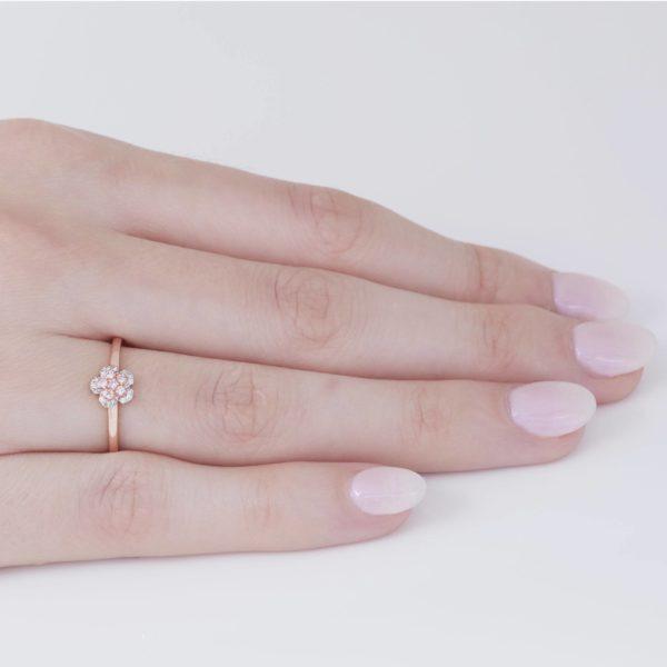 エミネンスピンクダイヤモンドフラワーリング